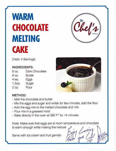 Warm Chocolate Melting Cake For Two